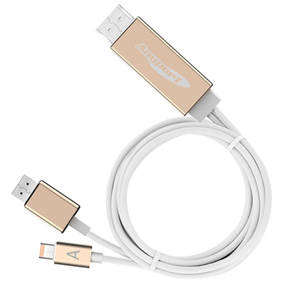 애니포트 HDMI 아이폰 안드로이드 겸용 미러링케이블, AP-MW7, 1개