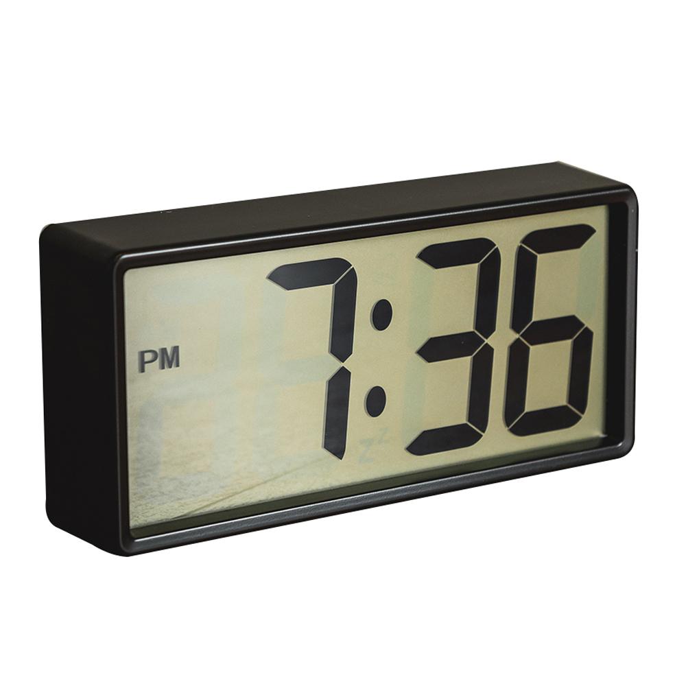 오리엔트 심플 빅디짓 클락 디지털 탁상시계, 블랙 (OT1583B)