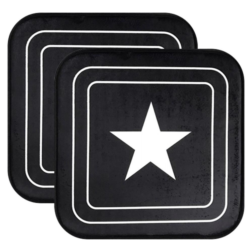 러그랜드 스타 메모리폼 방석 2p, 블랙