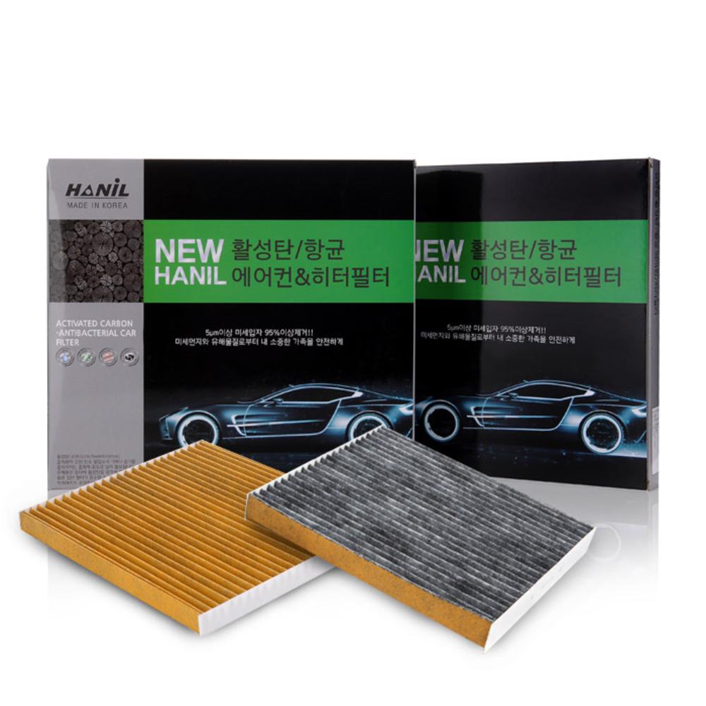 뉴한일 프리미엄 활성탄 차량용 에어컨 필터 2p, nc143, 1개