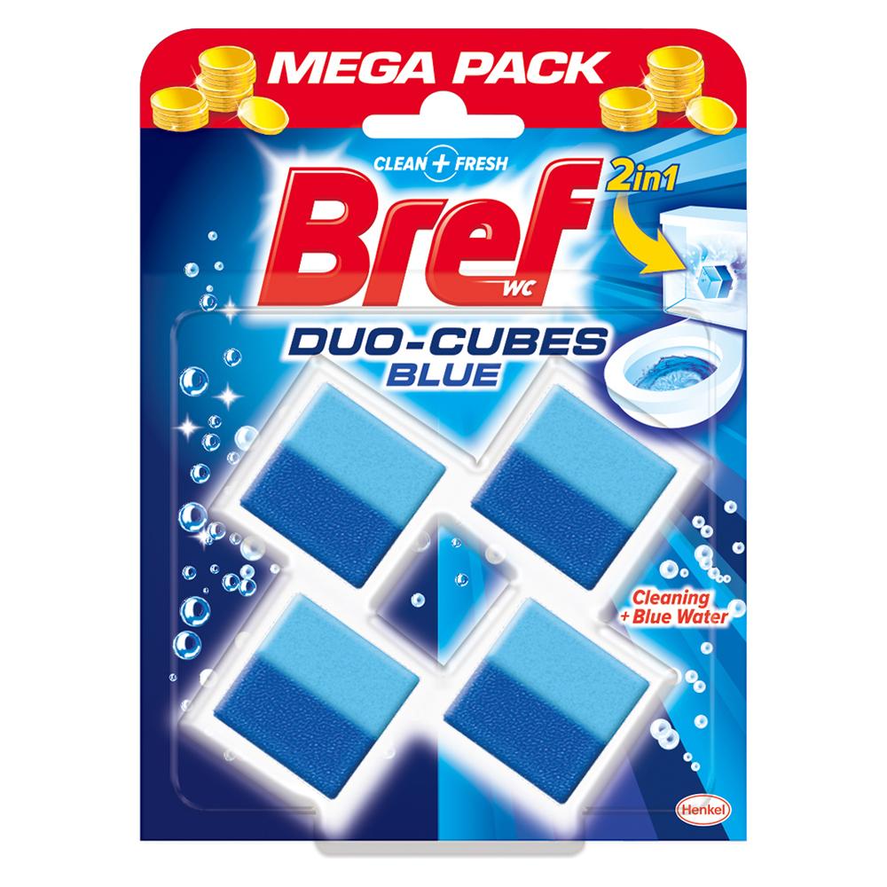 브레프 듀오 큐브 블루 변기세정제 4p, 200g, 1개
