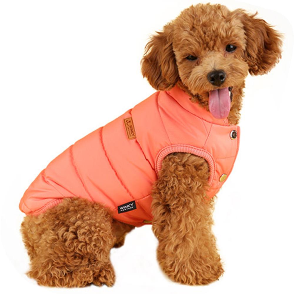 윙키뉴욕 베스트 패딩 강아지용 아우터, 오렌지