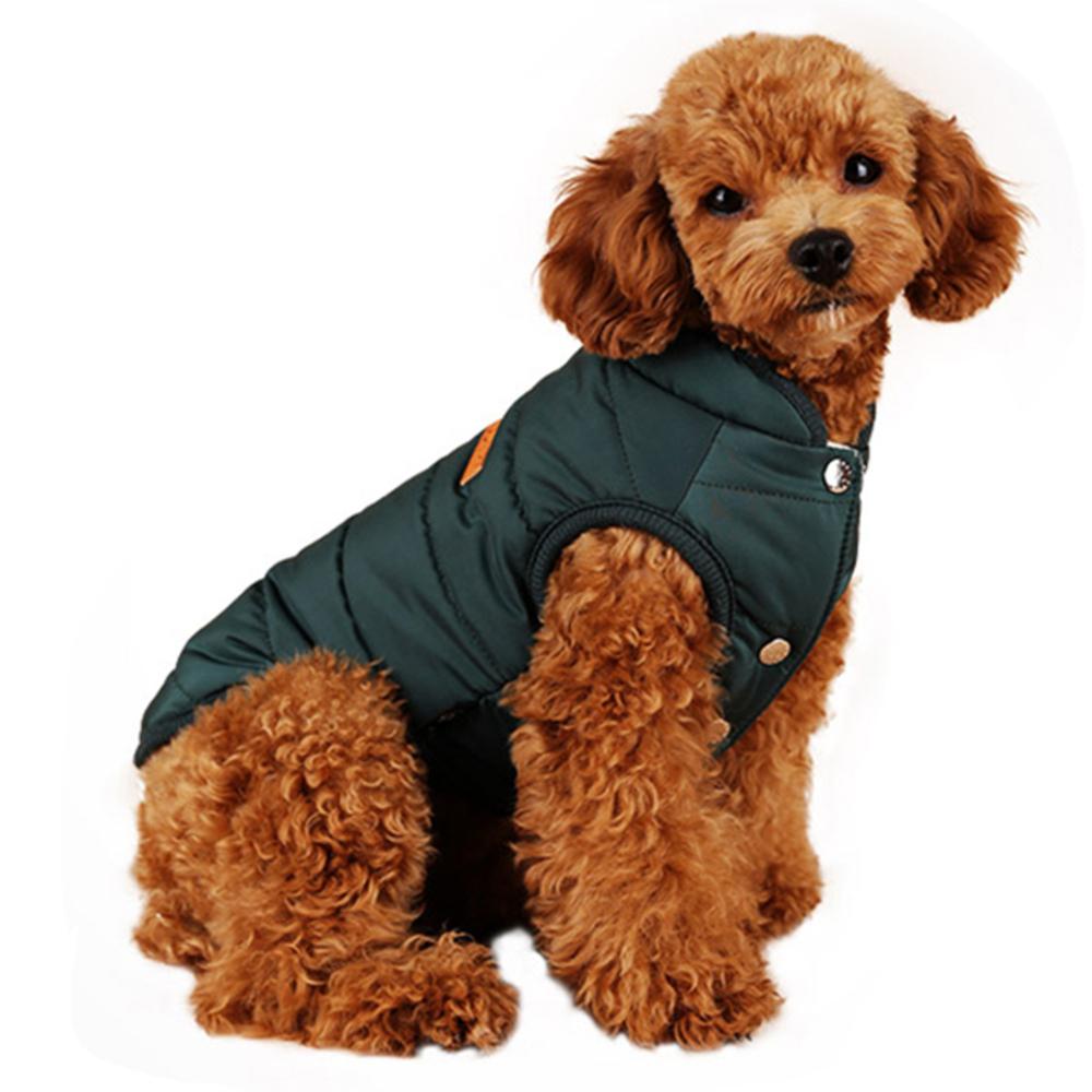윙키뉴욕 베스트 패딩 강아지용 아우터, 그린