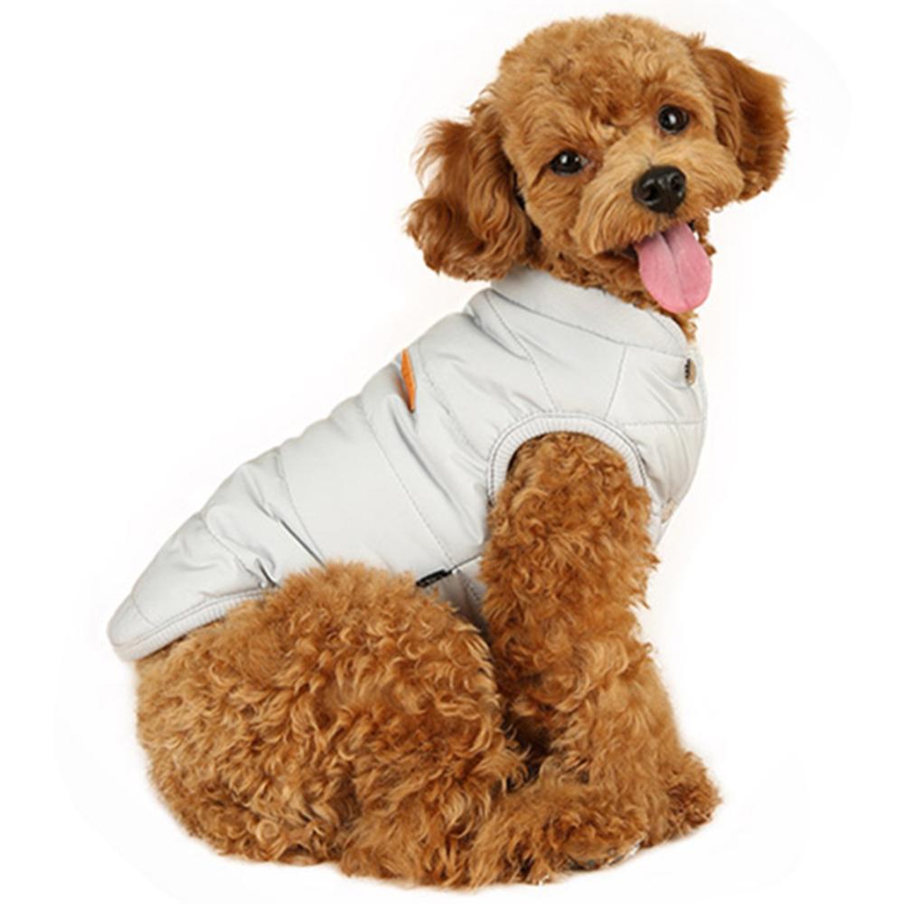 윙키뉴욕 베스트 패딩 강아지용 아우터, 그레이