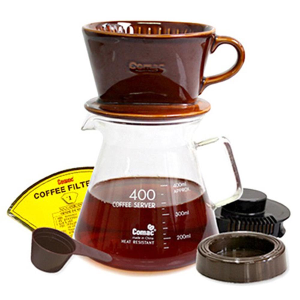 코맥 커피드립세트 400ml, 혼합 색상, 1세트