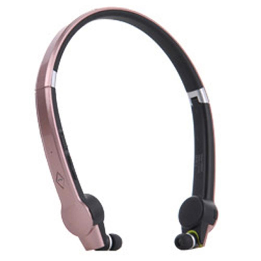 맥빙 접이식 넥밴드형 블루투스 방수 이어폰 MK900, 메탈핑크