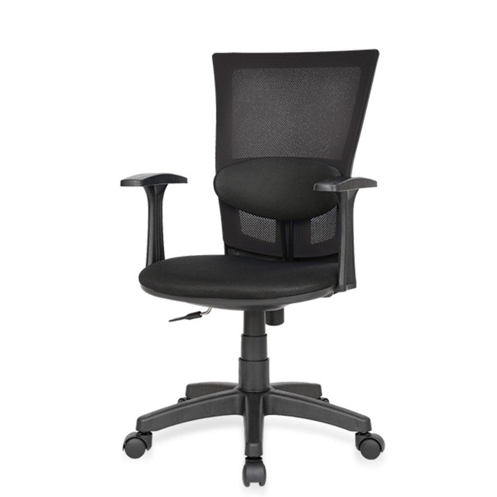 체어포커스 쿨링백 C3 대요추 의자 메쉬, 블랙