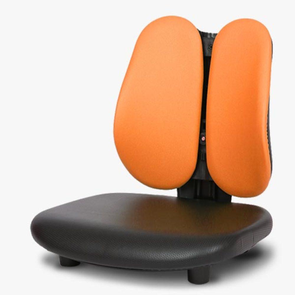 체어포커스 엠보좌식 EM00 기본형 인조가죽의자, 오렌지