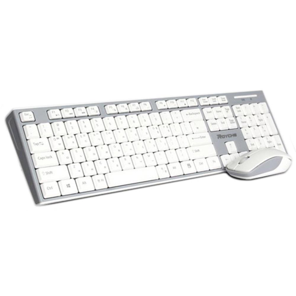 로이체 무선 키보드 마우스 세트 RX-3300, 화이트