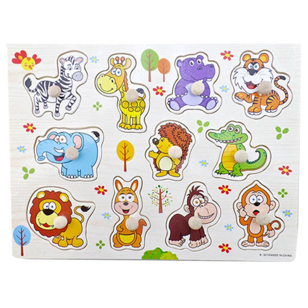 가베가족 바른손잡이 퍼즐, 동물원 (KS2581)