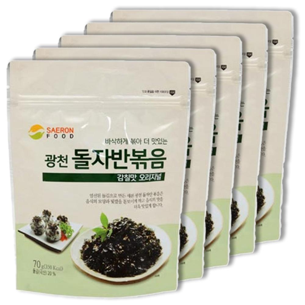 새론 광천 돌자반볶음 감칠맛 오리지널, 70g, 5개입