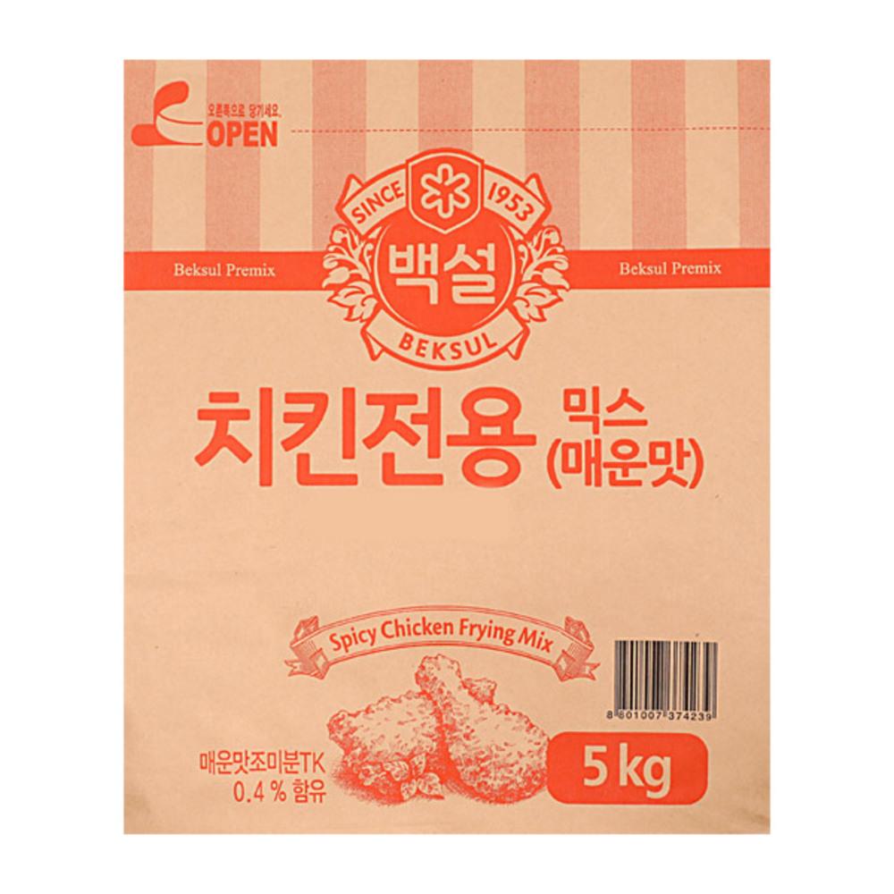 씨제이제일제당 백설 치킨전용 믹스 매운맛, 5kg, 1개