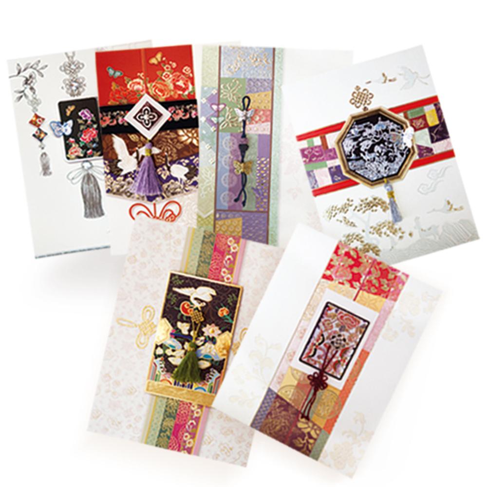 프롬앤투 매듭 6종 카드 세트 ft220, 혼합 색상, 1세트