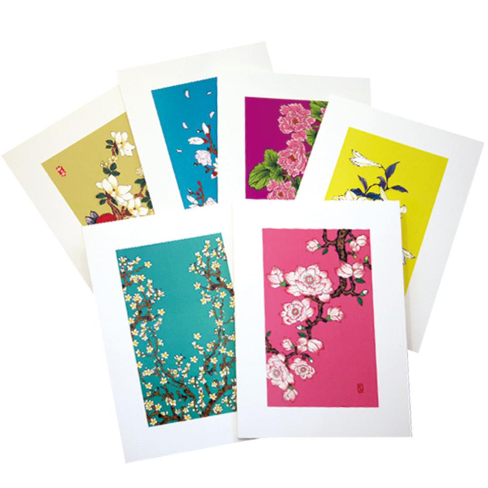 프롬앤투 꽃피우다 6종 카드 세트 ft214, 혼합 색상, 1세트