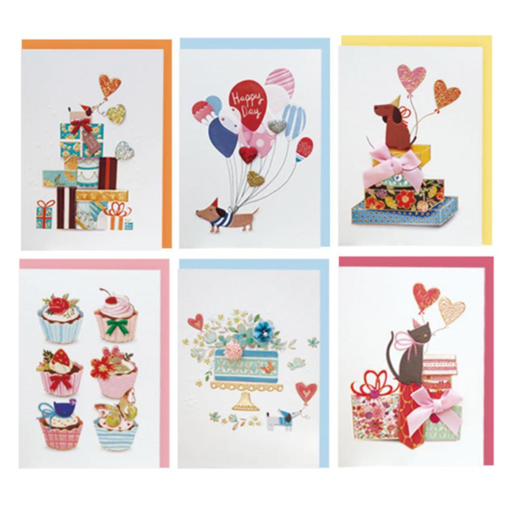 프롬앤투 동물 6종 카드 세트 ft1034, 혼합 색상, 1세트