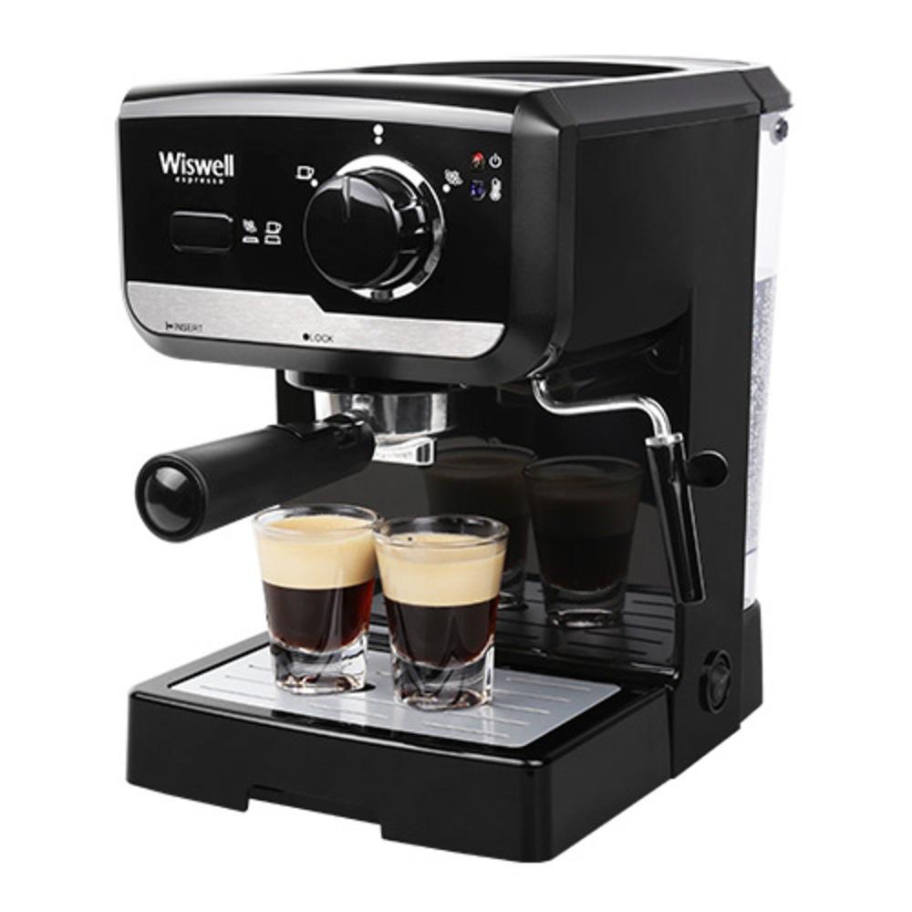 위즈웰 에스프레소 커피 머신 블랙, WC2300