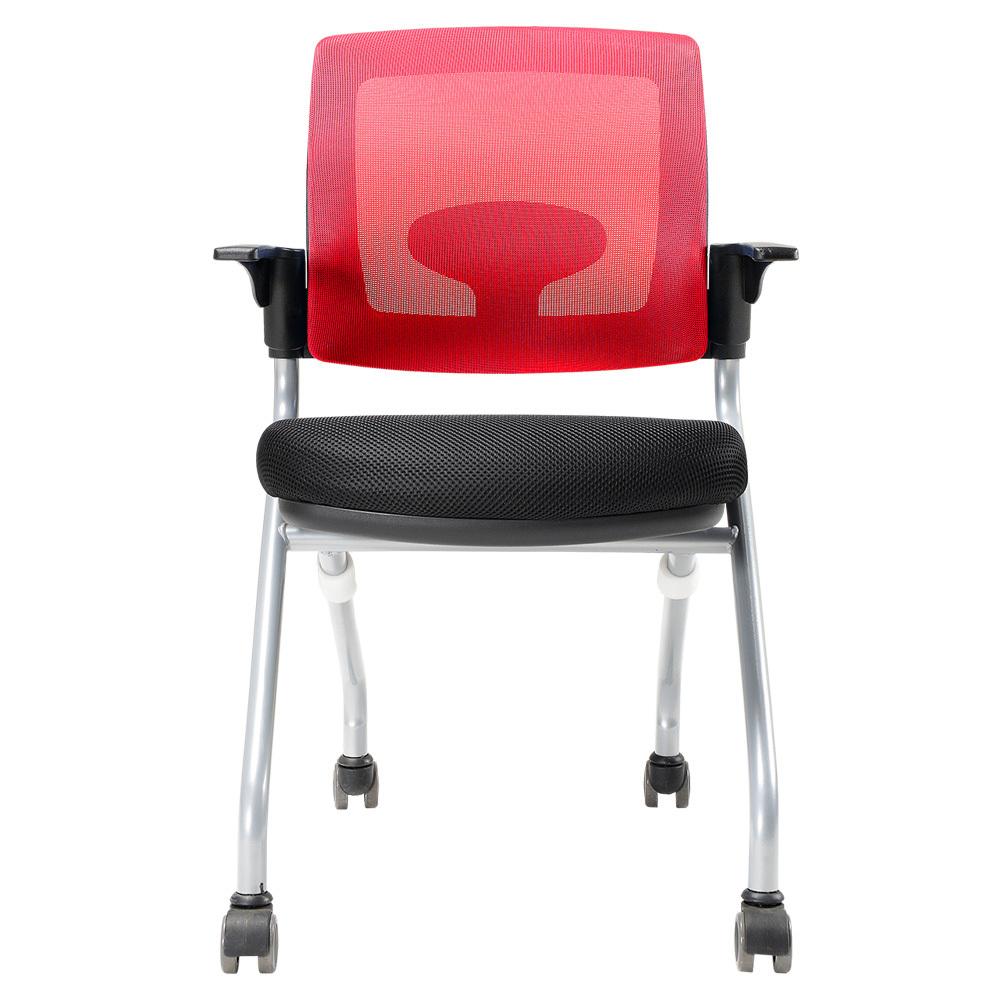 체어클럽 오피스팝 WC20 고정형 의자, 레드
