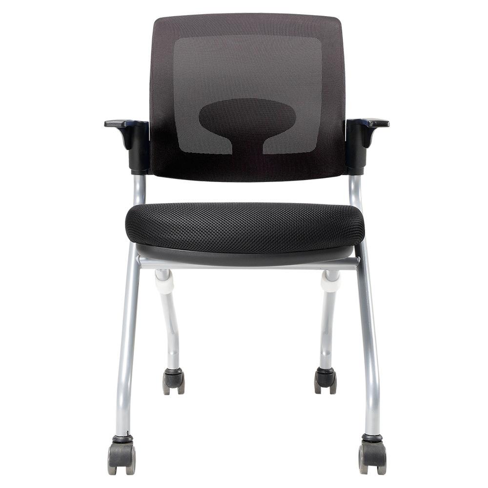 체어클럽 오피스팝 WC20 고정형 의자, 블랙