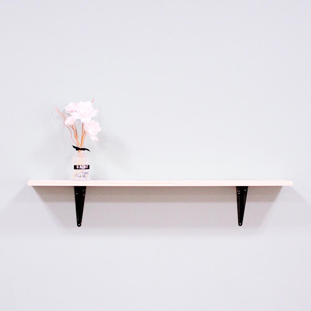 리노 프리미엄 원목 벽선반, 블랙