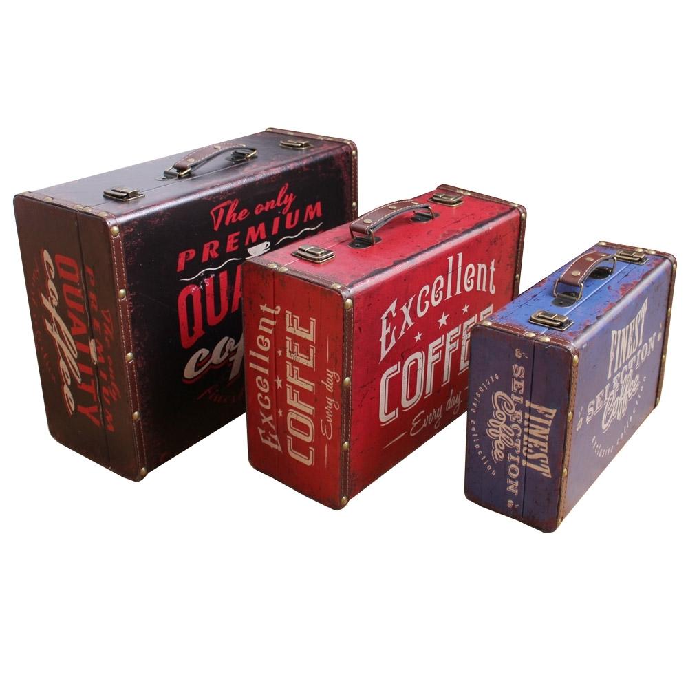 퍼닉 커피백 우드박스 3p 세트, 1세트