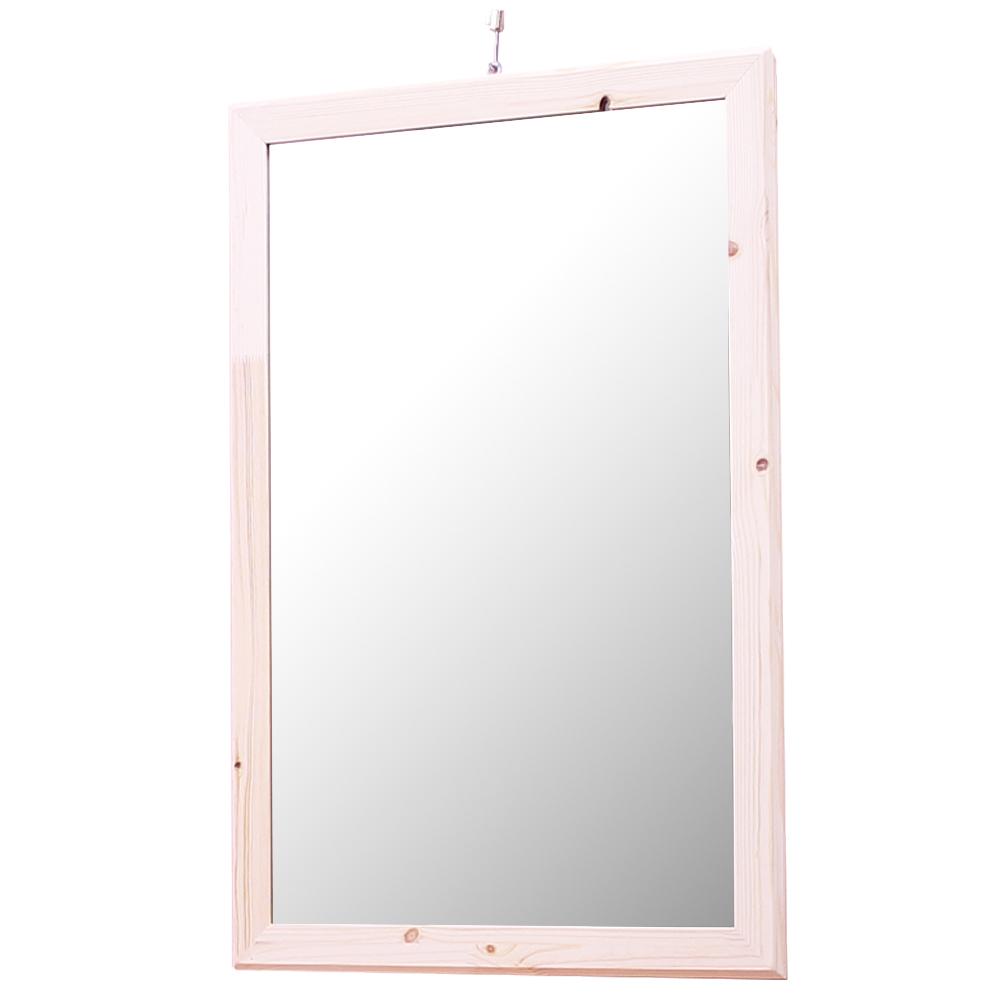 리노 프리미엄 원목 거울 프레임 500/740, 자연 원목