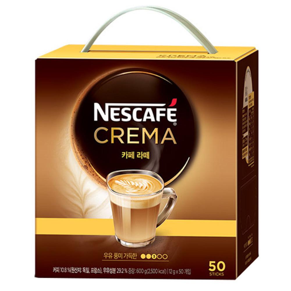 네스카페 크레마 카페라떼 믹스, 12g, 50개입