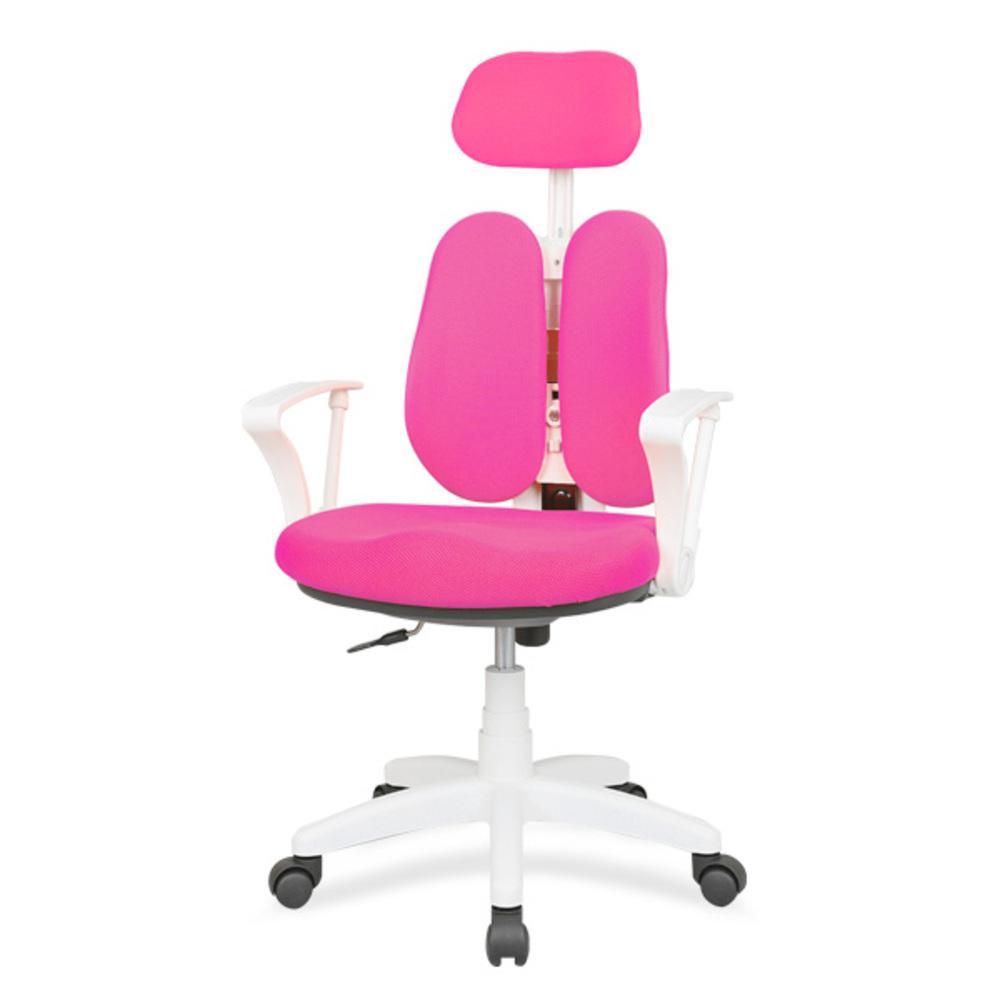 체어포커스 엔젤화이트 올칼라 WHBW 헤더형 의자 인조가죽, 핑크