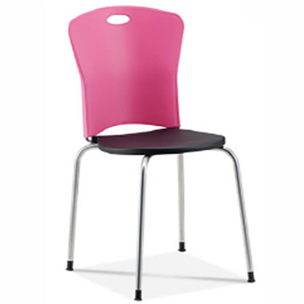 스마트퍼니처 원사출 의자, 핑크&블랙