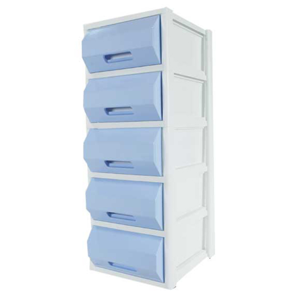 플라팜 네임서랍장 5단, 블루, 1개