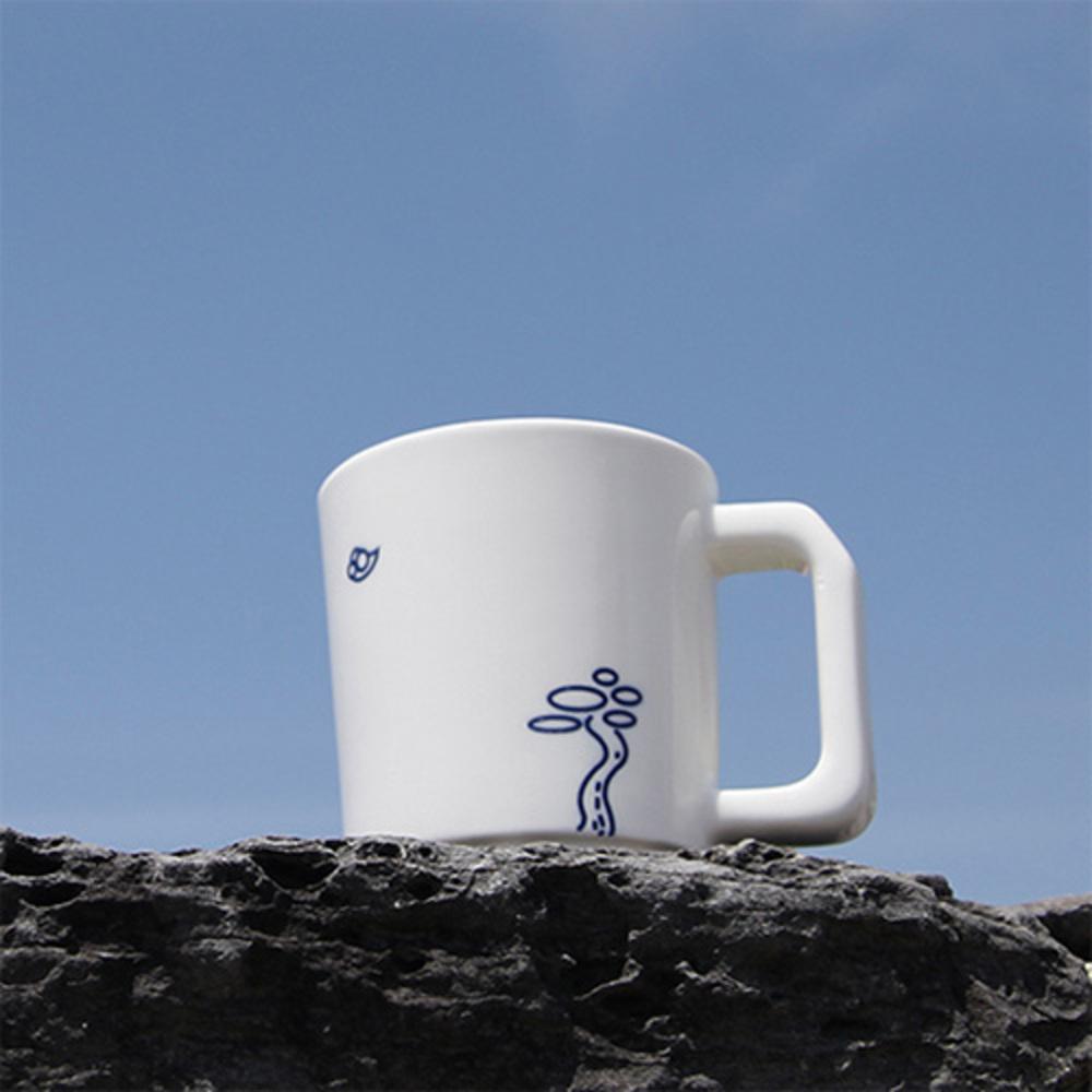 소로시 산수화 머그, 늘푸른 마음 (White + Blue), 1개