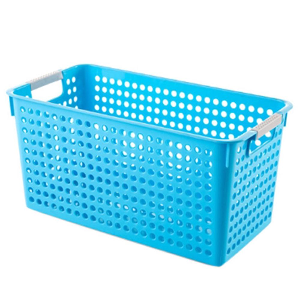 더자카 손잡이 바스켓 정리함 L, 블루(Y217ZHSB026), 1개
