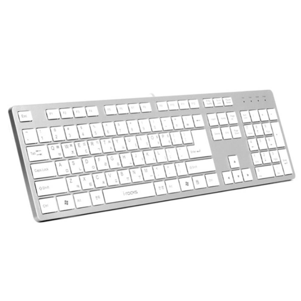 아이락스 퍼펙트 슬림 아이솔레이션 USB 키보드 IRK01W, 실버