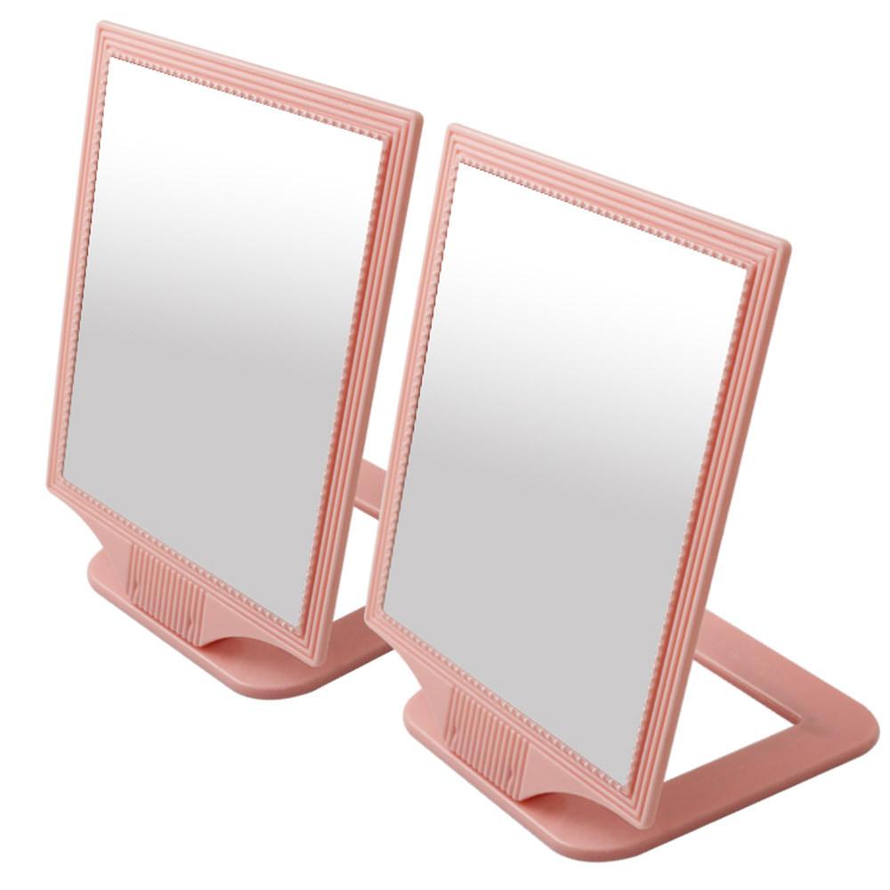 세븐스타 진주사각거울 중형, 연핑크, 2개입
