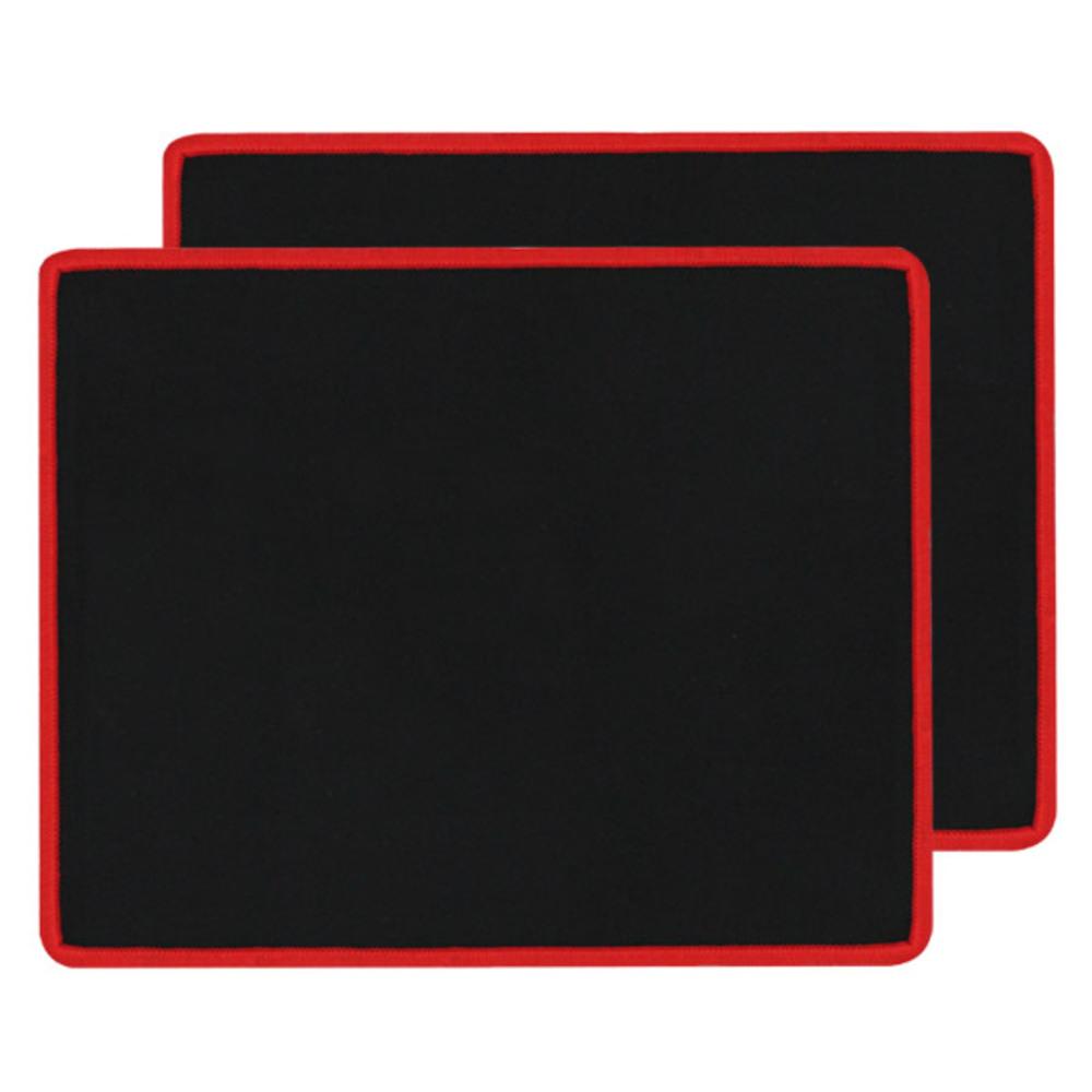 노트케이스 MP5 마우스 패드 MCMP5-S, 블랙 + 레드, 2개입