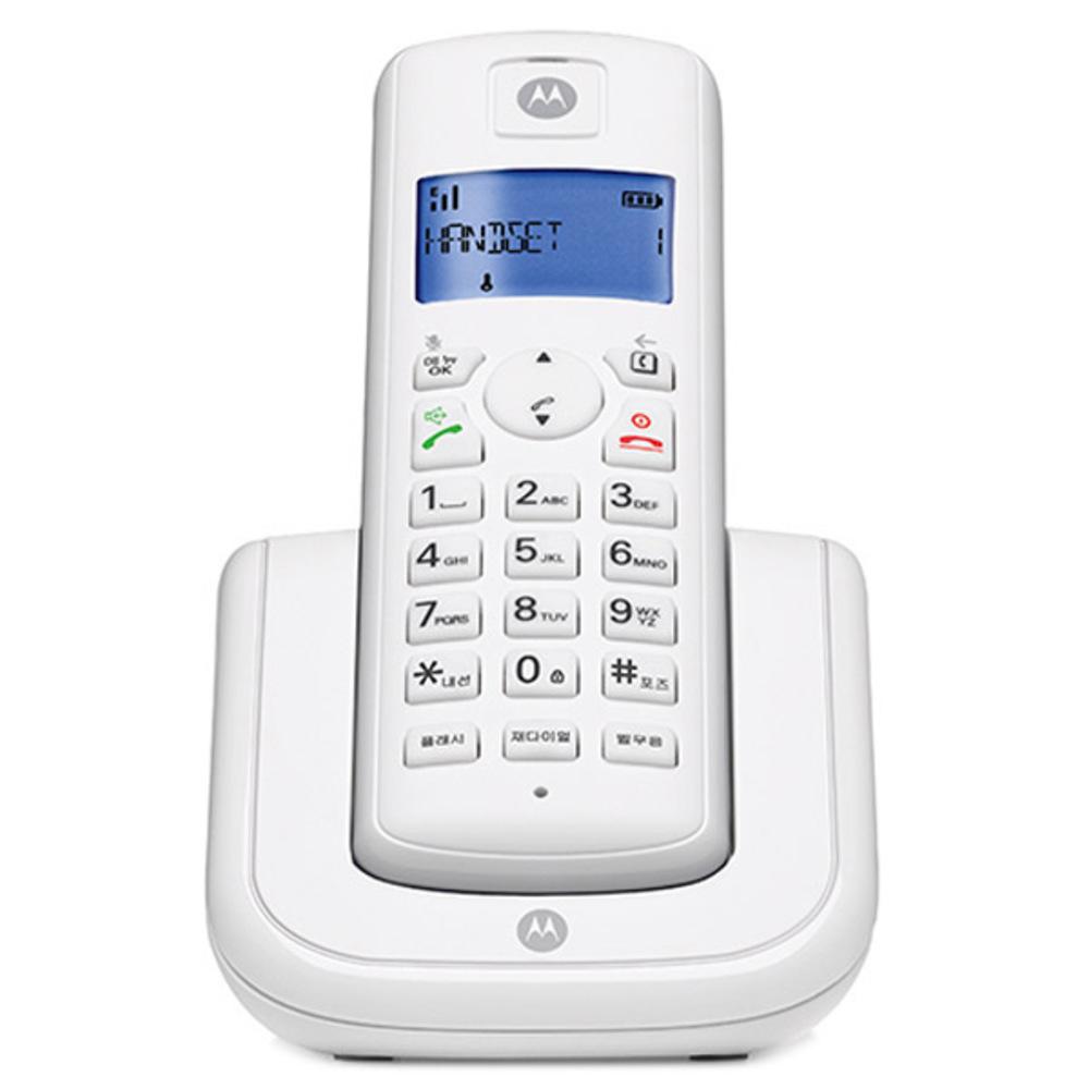 모토로라 1.7GHz 디지털 무선 전화기 T201A, T201A (화이트)