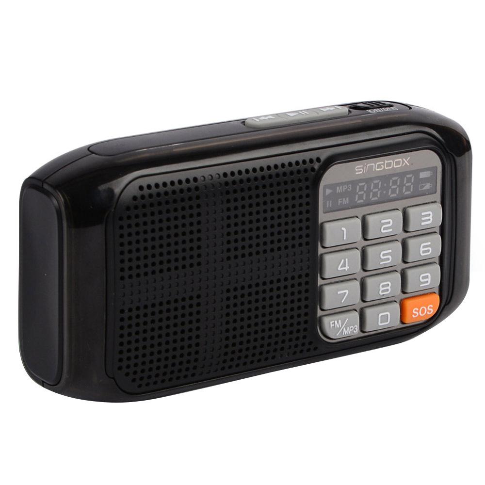 노벨뷰 휴대용 라디오 V6, 블랙