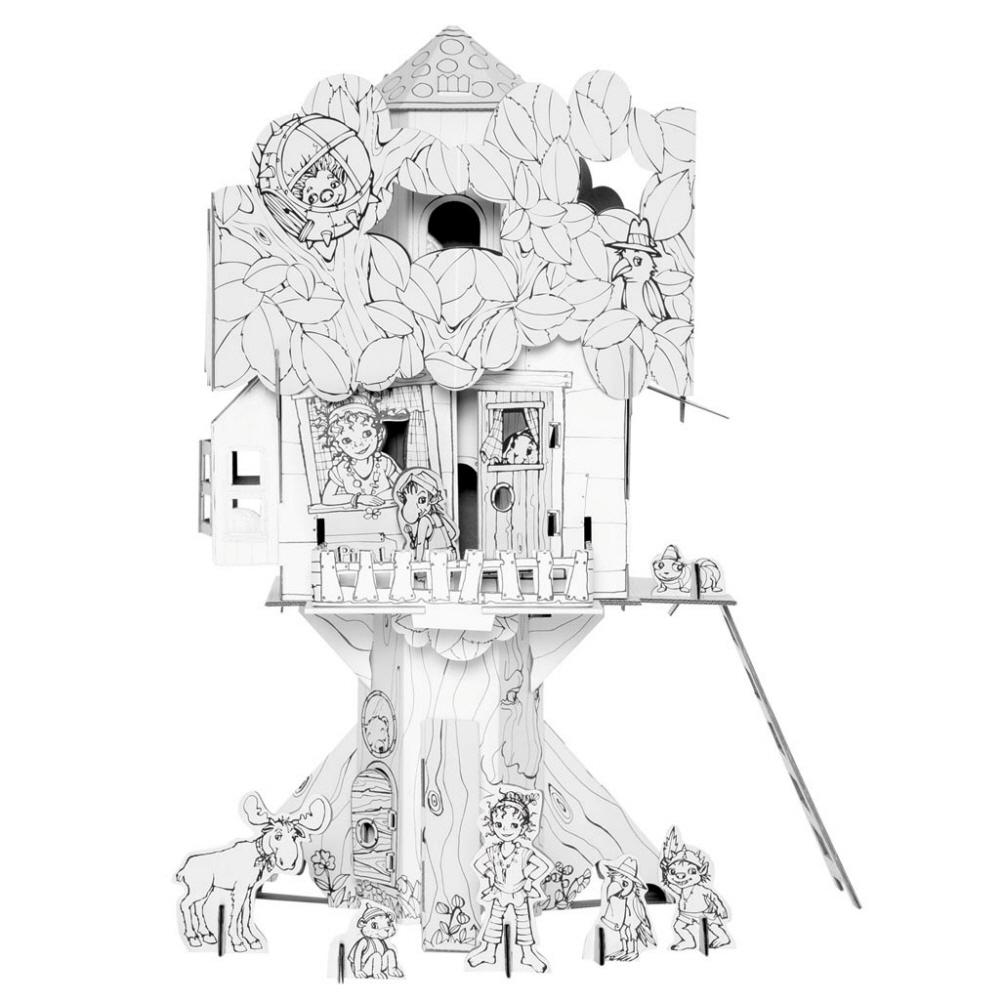 칼라판트 DIY 학습교구 LICENSE, L1000X(피파 루피나의 나무 위의 집), 1개