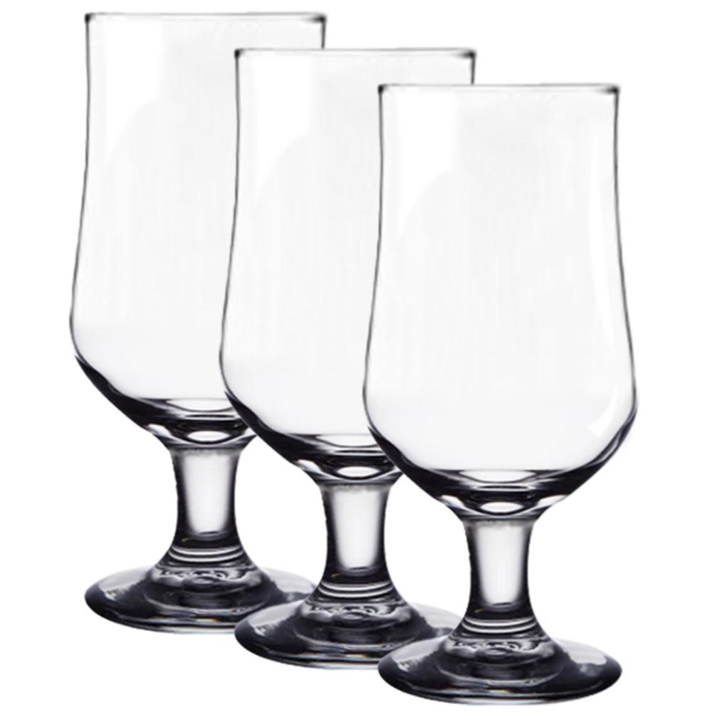 다이아글라스 블룸 고블렛 비어, 단일 색상, 3개입