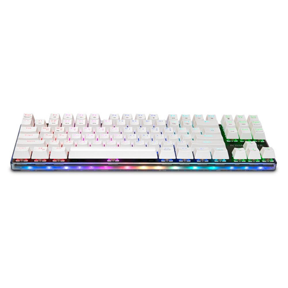 한성컴퓨터 BOSSMONSTER TFG 유선 키보드 브론즈축, MKL16S, 화이트