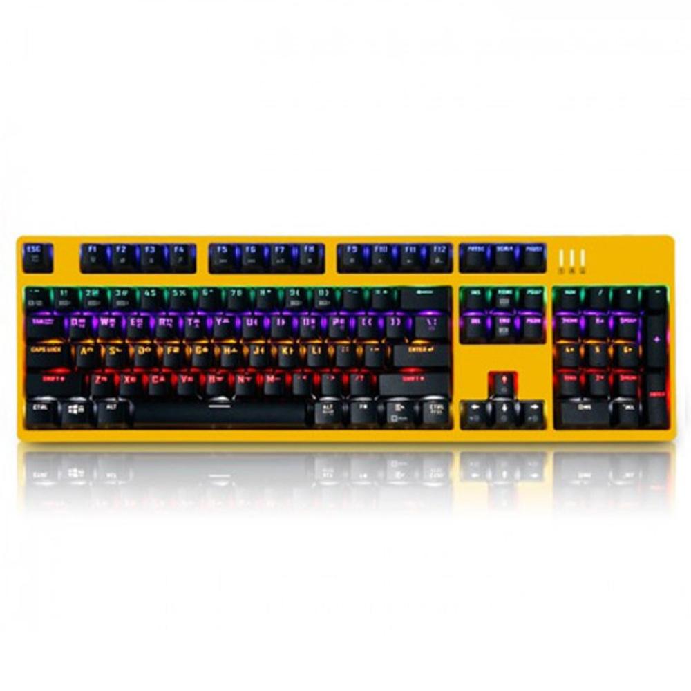 앱코 HACKER 스페셜 카일 광축 키보드 K660, 옐로우 바디