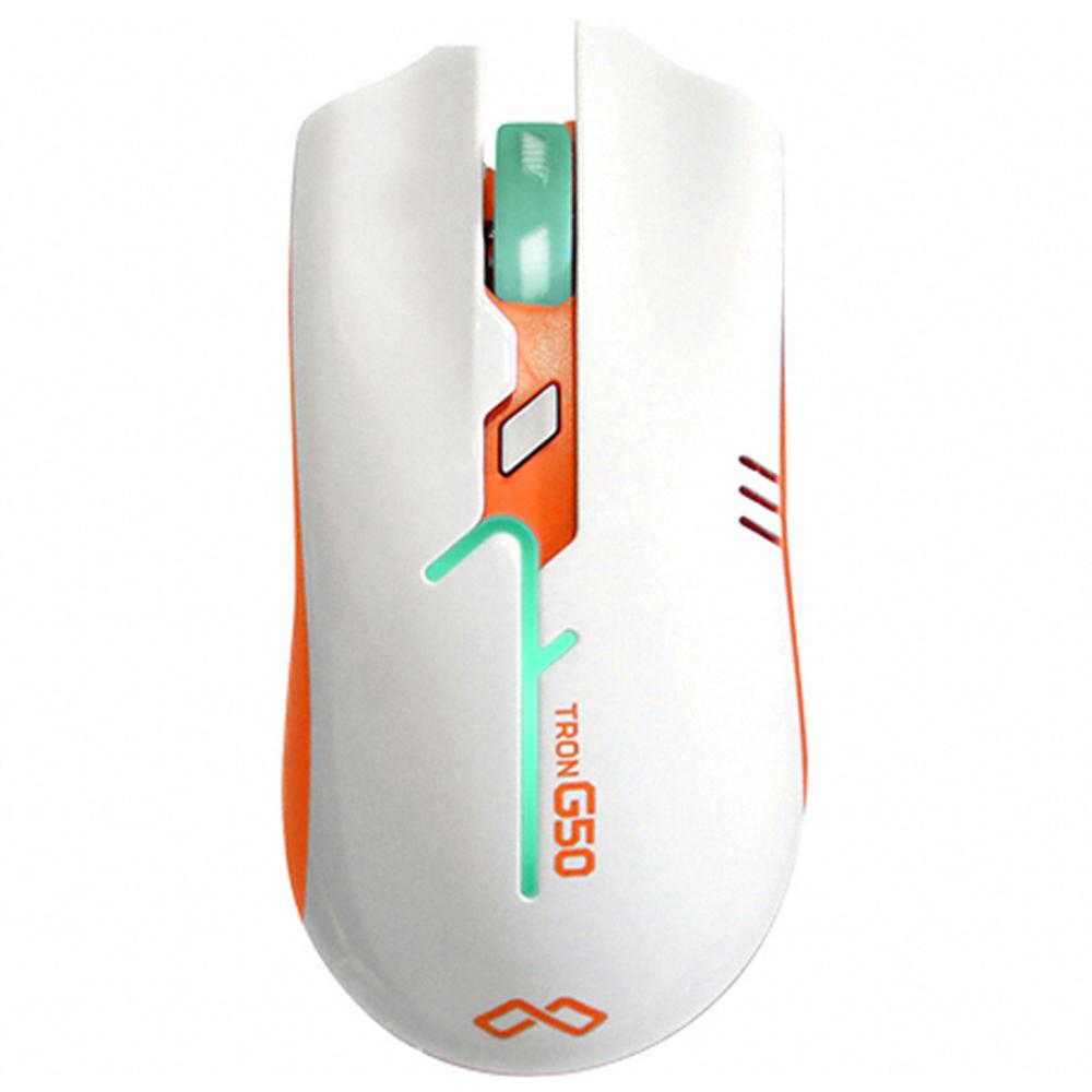 맥스틸 게이밍 마우스, TRON G50, WHITE + ORANGE