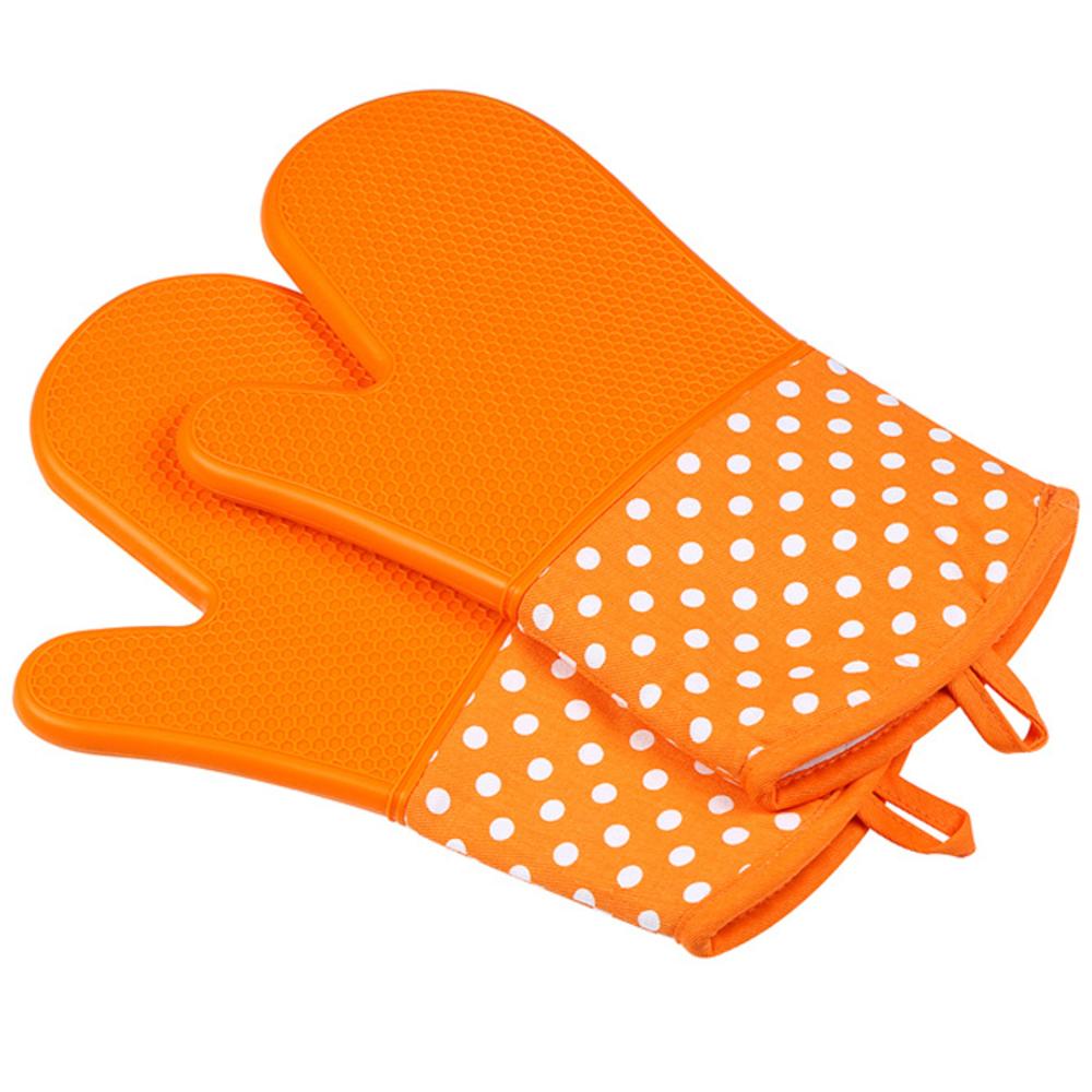 라이프포인트 하프 실리콘 주방장갑, 오렌지, 2개입