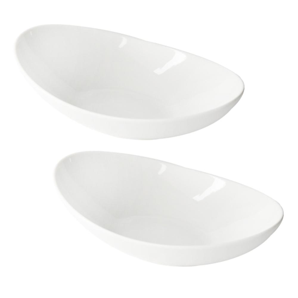 네오본 와이드볼 스파게티 접시 25 x 17.4 x 6.5 cm, 화이트, 2개입