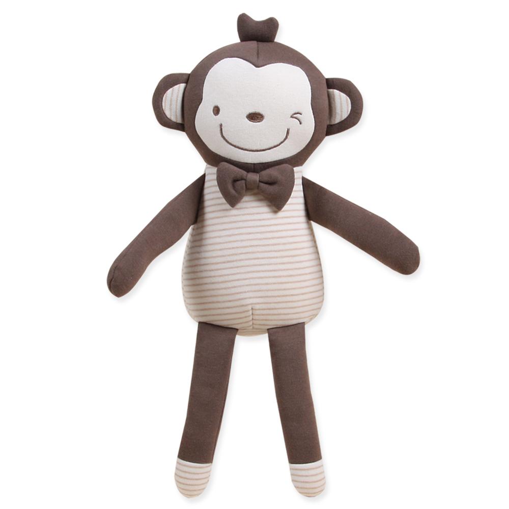 오가닉붐 유아용 롱롱이 원숭이 애착인형