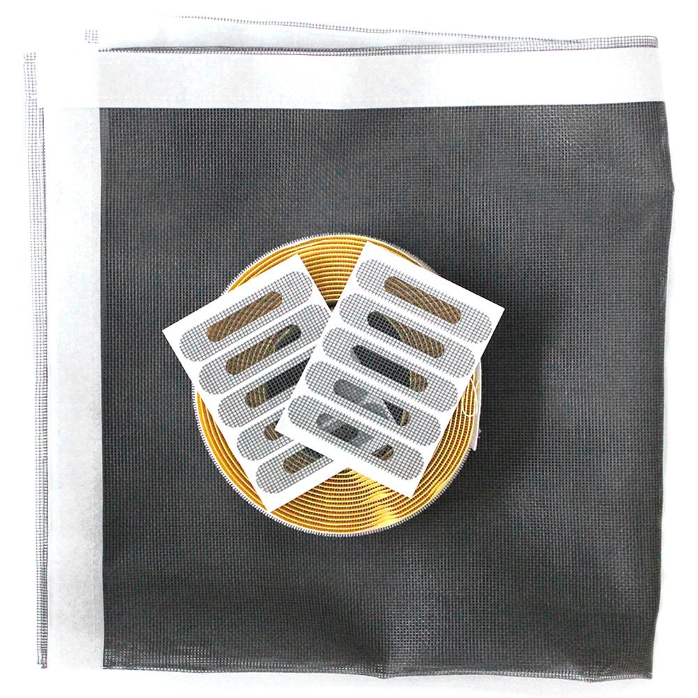 쾌청 일반방충망 회색+흰색벨크로+물구멍방충망10p, 1세트