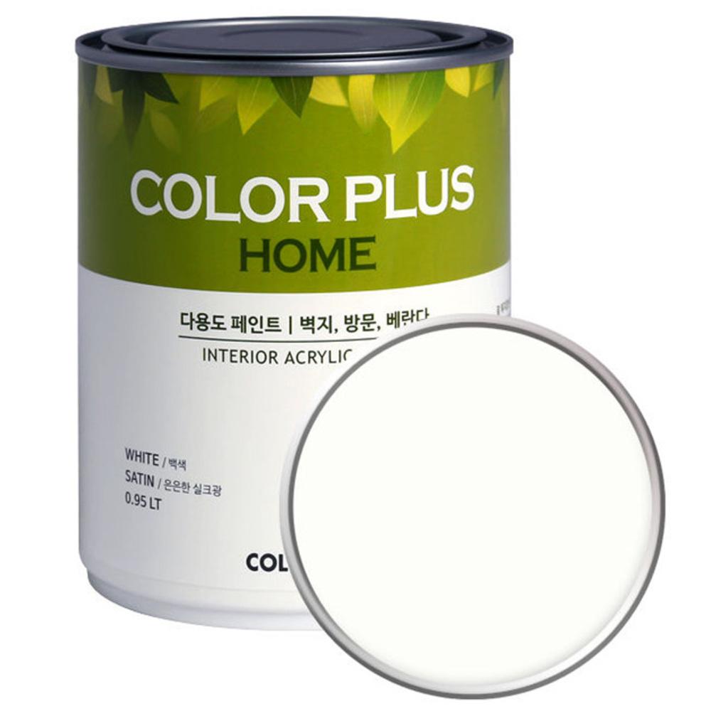 노루페인트 컬러플러스 홈 페인트 1L, 밀크화이트 (SP0070)