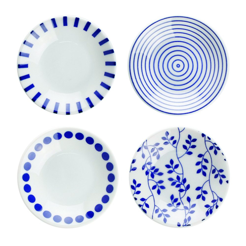 로코리빙 블루포인트 접시세트 대, 1세트, 접시 4p