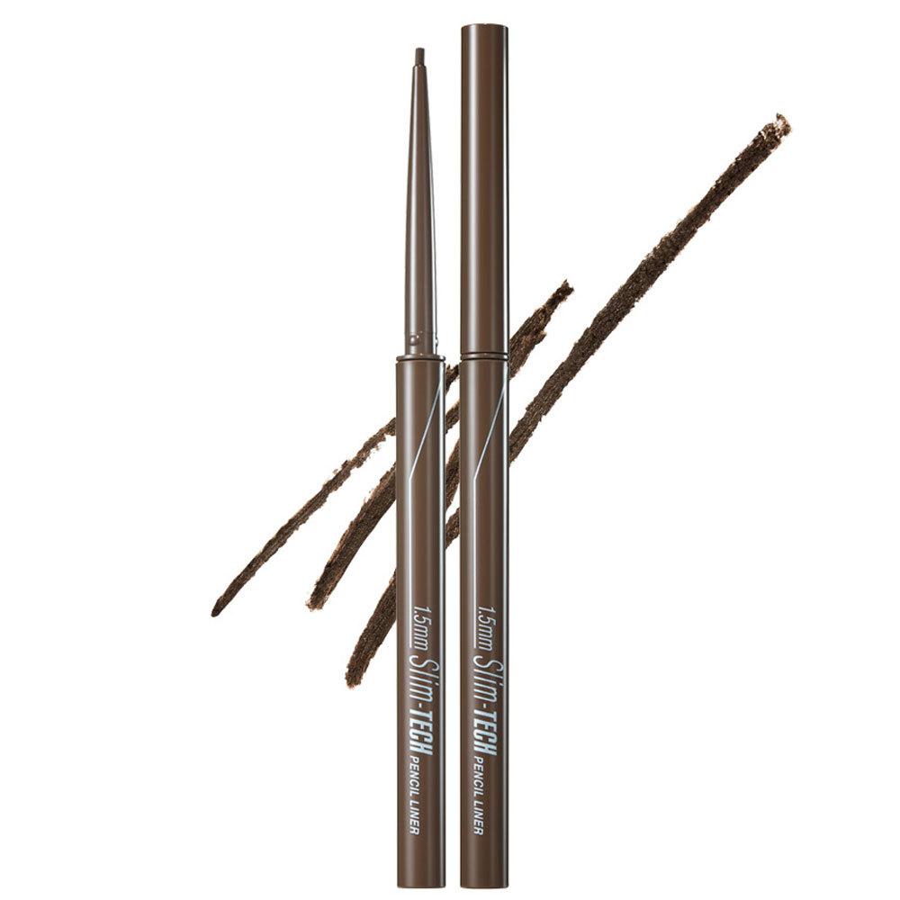 클리오 1.5mm 슬림 테크 펜슬 라이너 0.08g, 002 브라운, 1개