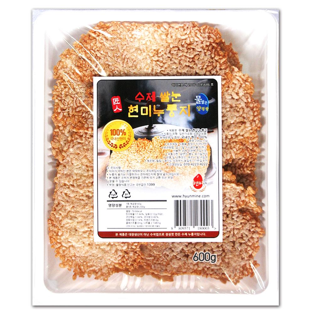 수제 쌀눈 현미 누룽지, 600g, 1개