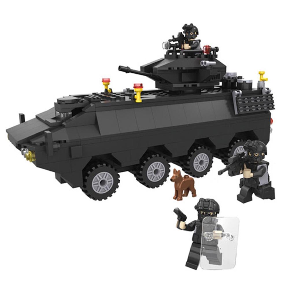 HSANHE SWAT 장갑차 클래식 블럭, 혼합 색상